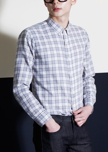 #SALE#Wasing Check Shirts(2col)