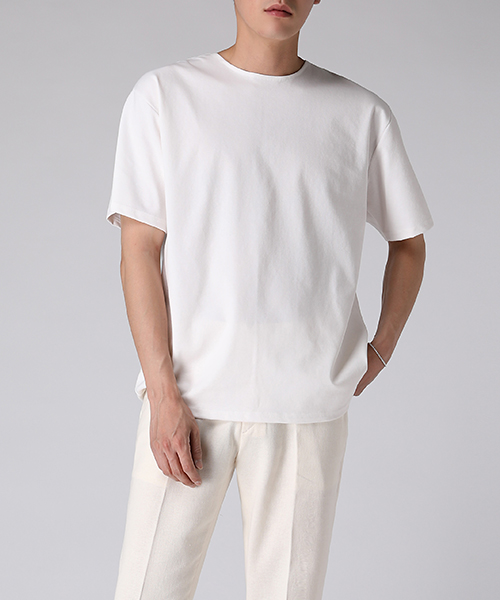 Binding Neck T-shirts(3col) 바인딩 넥 티셔츠