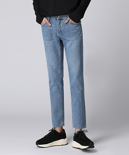 Straight Semi Crop Jeans(1col) 일자 세미 크롭 진
