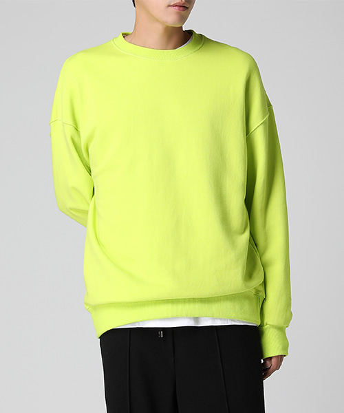 Neon Color Sweatshirts(4col) 네온 컬러 스웻셔츠