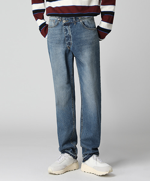 Unique Washed Wrapped Jeans(1col) 유니크 워싱 랩 진