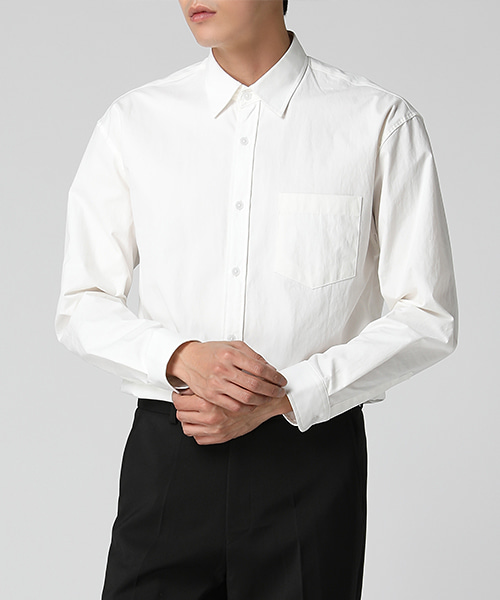 One Pocket High Density Shirts(3col) 원 포켓 고밀도 셔츠