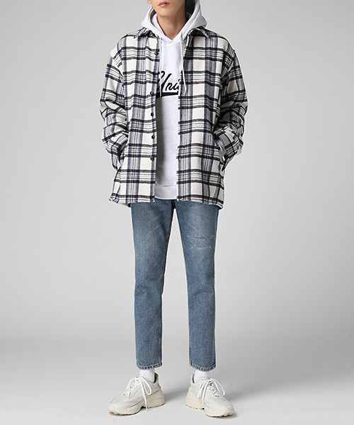 Wool Flannel Check Shirts Jacket(2col) 울 플란넬 체크 셔츠 자켓