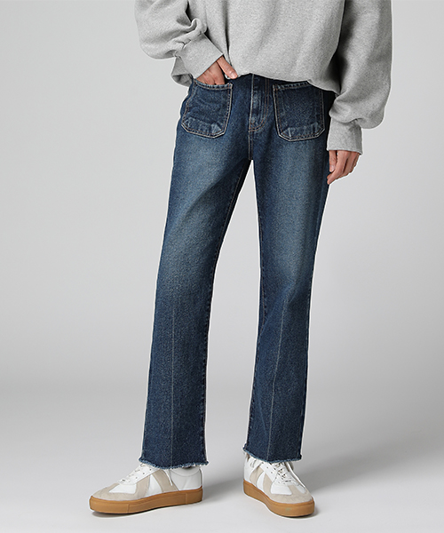 Front Pocket Bootscut Jeans(1col)앞 포켓 부츠컷 진