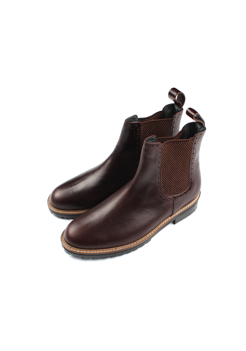 Handmade Worker Chelsea Boots(2col)