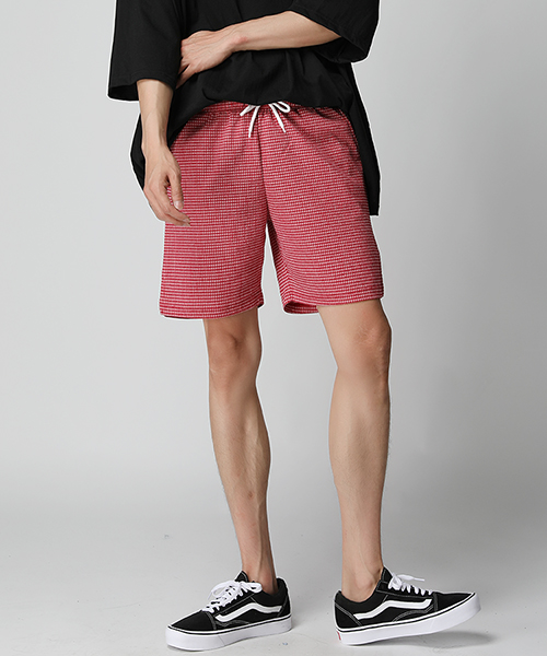 Seersucker Check Short Pants(4col)시어서커 체크 숏 팬츠