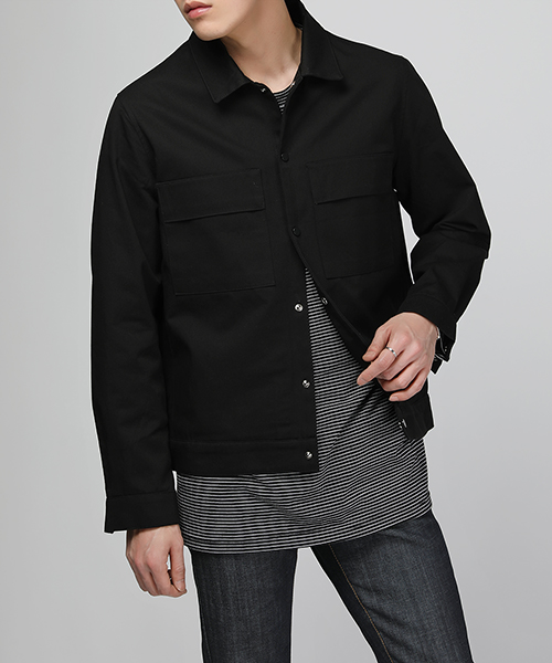 Lip Pocket Cotton Jacket(2col) 립 포켓 코튼 자켓