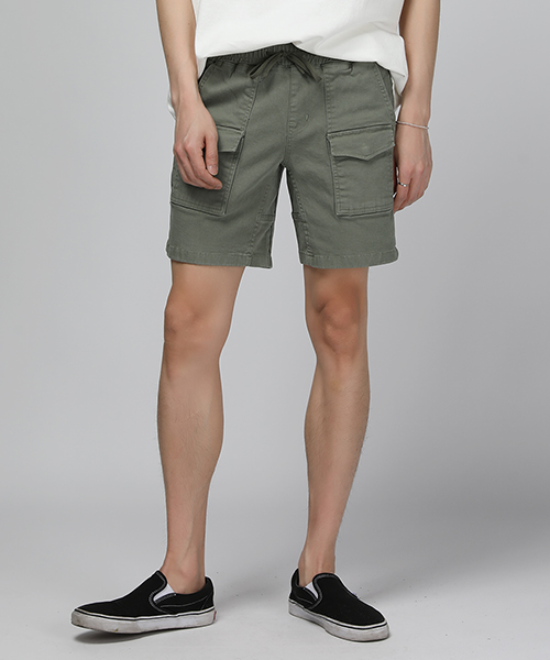 Two Pocket Cargo Half Pants(4col) 투 포켓 카고 반 바지