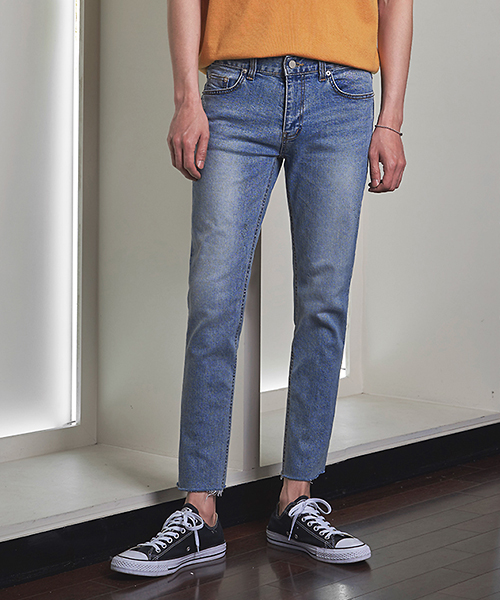 Light Washed Cutting Jeans(1col) 라이트 워싱 컷팅 진