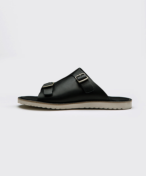Two Buckle Leather Sandle(2col) 투 버클 레더 샌들