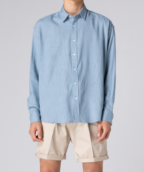 Basic Over Linen Shirts(4col) 베이직 오버 린넨 셔츠