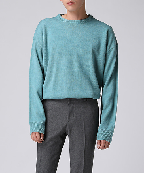 Overfit Color Round Knit(5col) 오버핏 컬러 라운드 니트