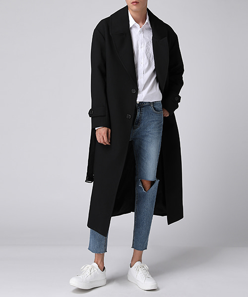 Long Wide Trench Coat(2col) 롱 와이드 트렌치 코트
