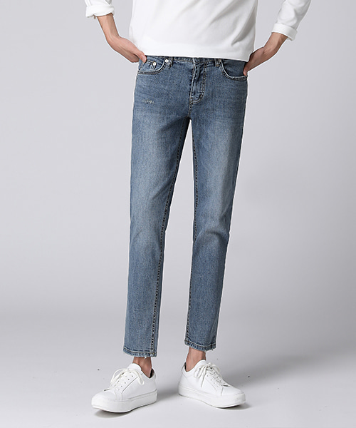 Soft Blue Washed Jeans(1col) 소프트 블루 워싱 진