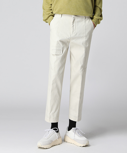 One Pocket Cutline Cotton Pants(2col) 원 포켓 절개 코튼 팬츠