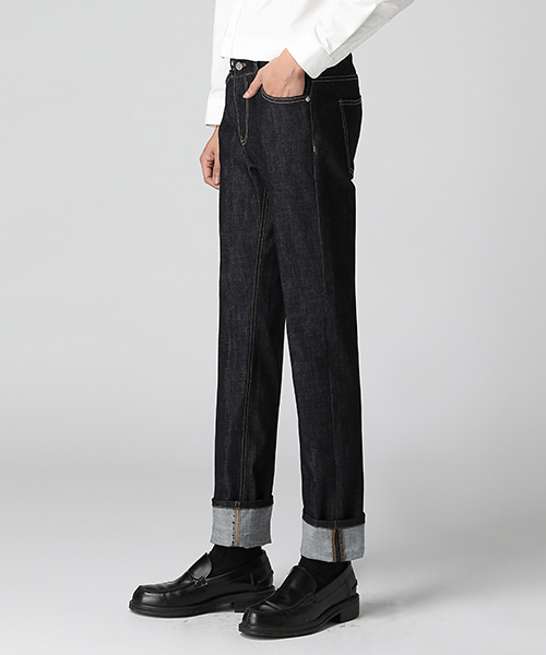 Non-Washed Straight Jeans(1col) 논 워싱 스트레이트 진