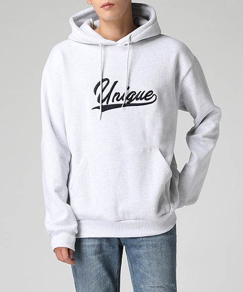 Unique Embroidery Napping Hoodie(3col) 유니크 자수 양기모 후드