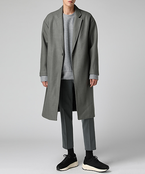 One Button Wool Over Coat(2col) 원 버튼 울 오버 코트