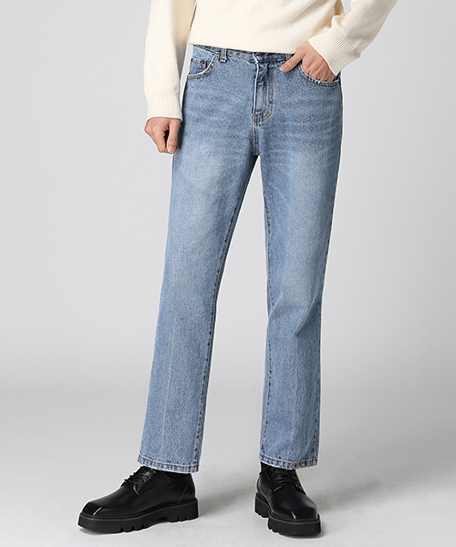Natural Washed Straight Jeans(2col) 내츄럴 워싱 스트레이트 진