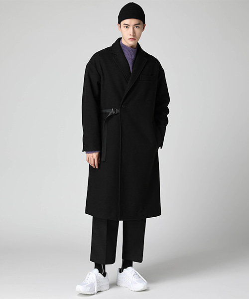 Side Taping Maxi Coat(4col) 사이드 테이핑 맥시 코트