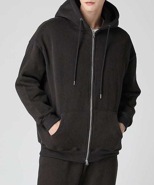 Heavy Cotton Napping Hood Zip-up(3col) 헤비 코튼 기모 후드 집업
