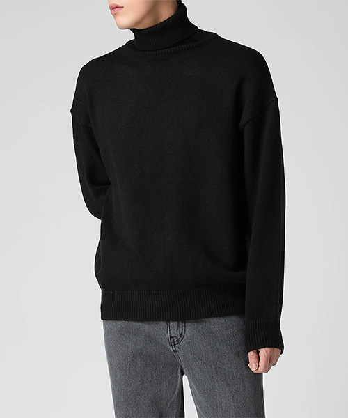 Turtleneck Over Sweater(4col) 터틀넥 오버 스웨터